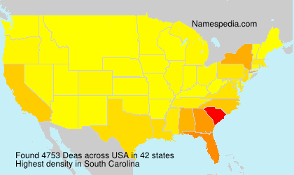 Surname Deas in USA