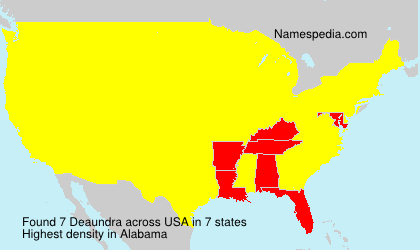 Surname Deaundra in USA
