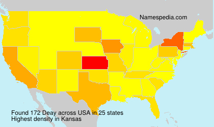 Surname Deay in USA