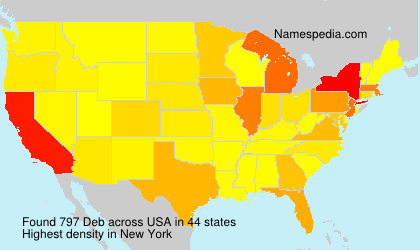 Surname Deb in USA
