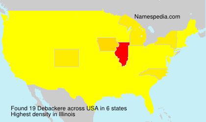 Familiennamen Debackere - USA