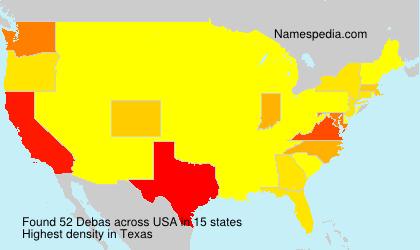 Surname Debas in USA