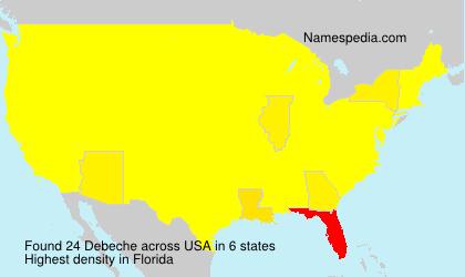 Familiennamen Debeche - USA