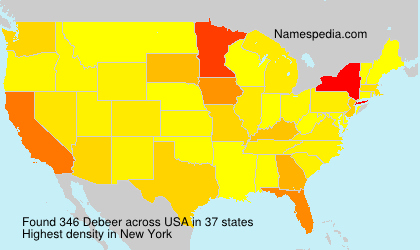 Surname Debeer in USA