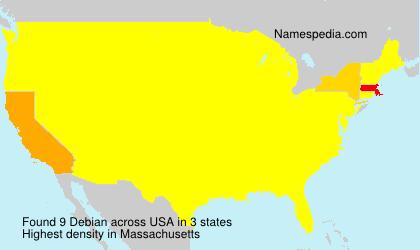 Surname Debian in USA