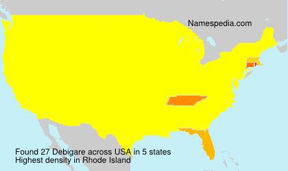 Surname Debigare in USA