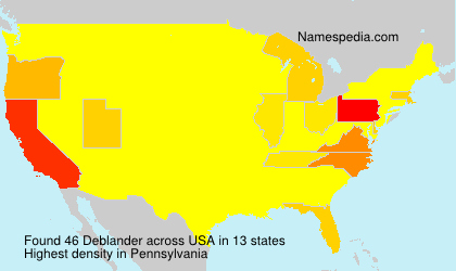 Surname Deblander in USA
