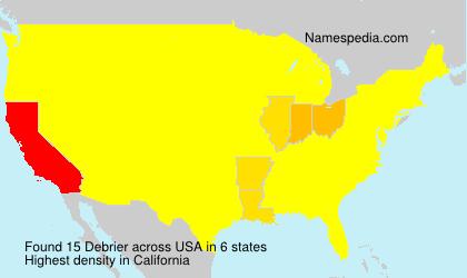 Surname Debrier in USA