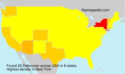 Surname Debrovner in USA