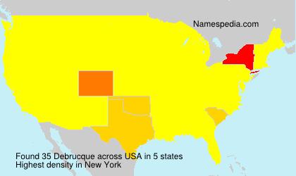 Familiennamen Debrucque - USA