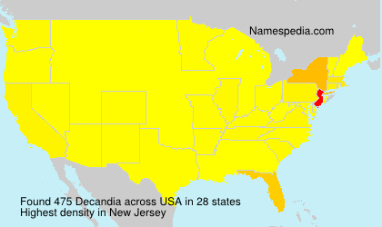 Surname Decandia in USA
