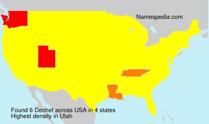 Familiennamen Dechet - USA