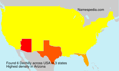 Surname Dechilly in USA