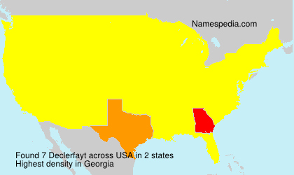 Surname Declerfayt in USA