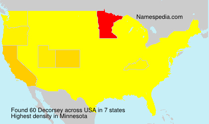 Surname Decorsey in USA