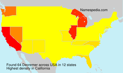 Surname Decremer in USA
