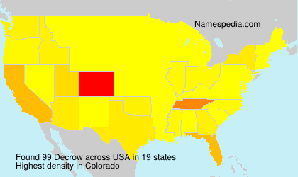 Surname Decrow in USA