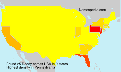 Surname Deddy in USA