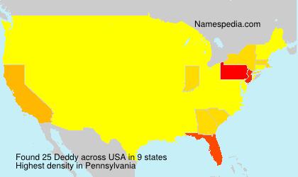 Surname Deddy in USA