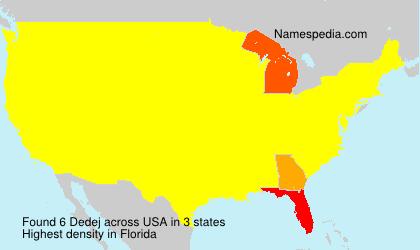 Surname Dedej in USA