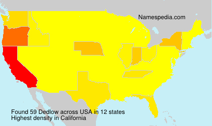 Surname Dedlow in USA
