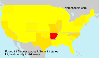Surname Dedner in USA