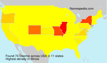 Surname Deemie in USA