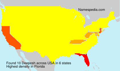Surname Deepesh in USA