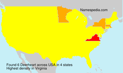 Surname Deerheart in USA