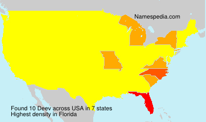 Surname Deev in USA