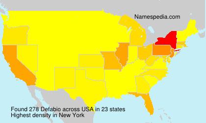 Surname Defabio in USA