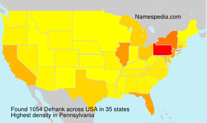 Surname Defrank in USA