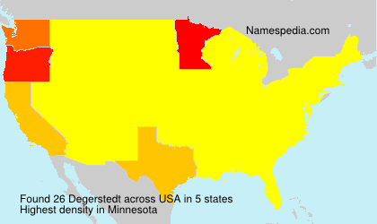 Surname Degerstedt in USA