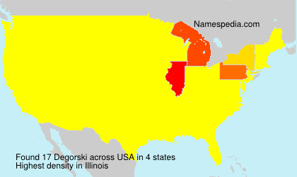 Surname Degorski in USA