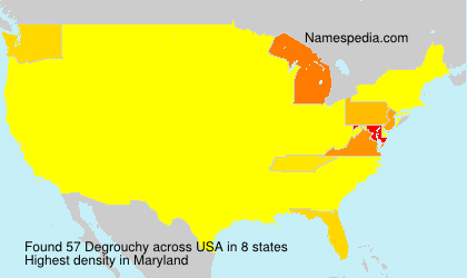 Surname Degrouchy in USA