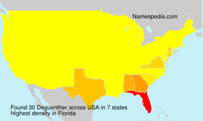 Surname Deguenther in USA