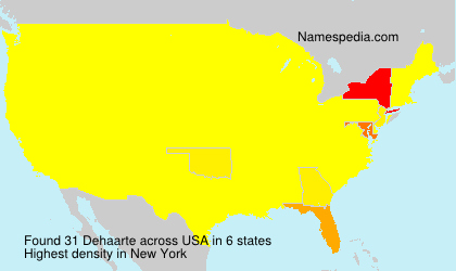 Surname Dehaarte in USA