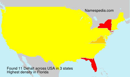 Surname Dehalt in USA