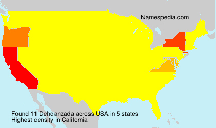 Surname Dehqanzada in USA