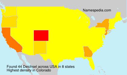 Surname Deichsel in USA