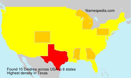 Surname Deidrea in USA