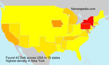 Familiennamen Deik - USA