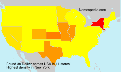 Surname Deiker in USA