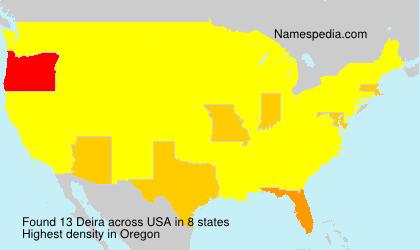 Familiennamen Deira - USA
