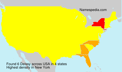 Surname Deissy in USA