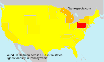 Surname Deitman in USA