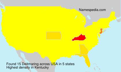 Surname Deitmaring in USA