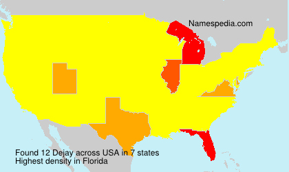 Surname Dejay in USA