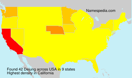 Surname Dejung in USA