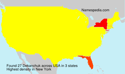 Surname Dekanchuk in USA